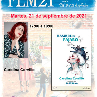 """""""Hambre de Pájaro"""" en la Feria del Libro de Madrid 2021."""