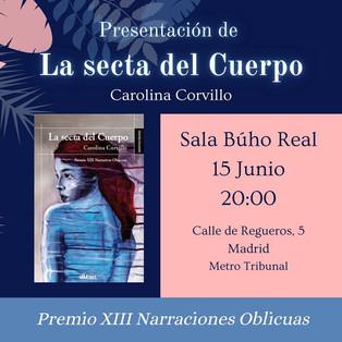 """Presentación de """"La secta del Cuerpo"""" en Madrid."""