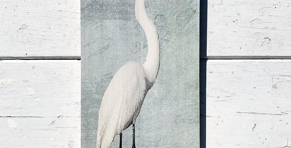 Hanging Wood Sign - Heron