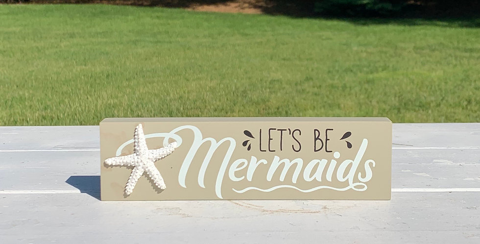 Wood Sign - Mermaids