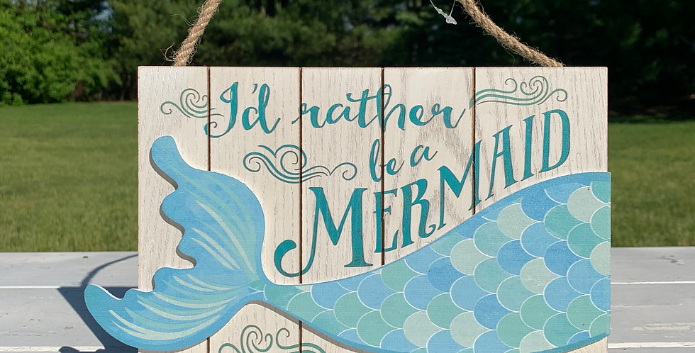 Hanging Sign - Mermaid Tail