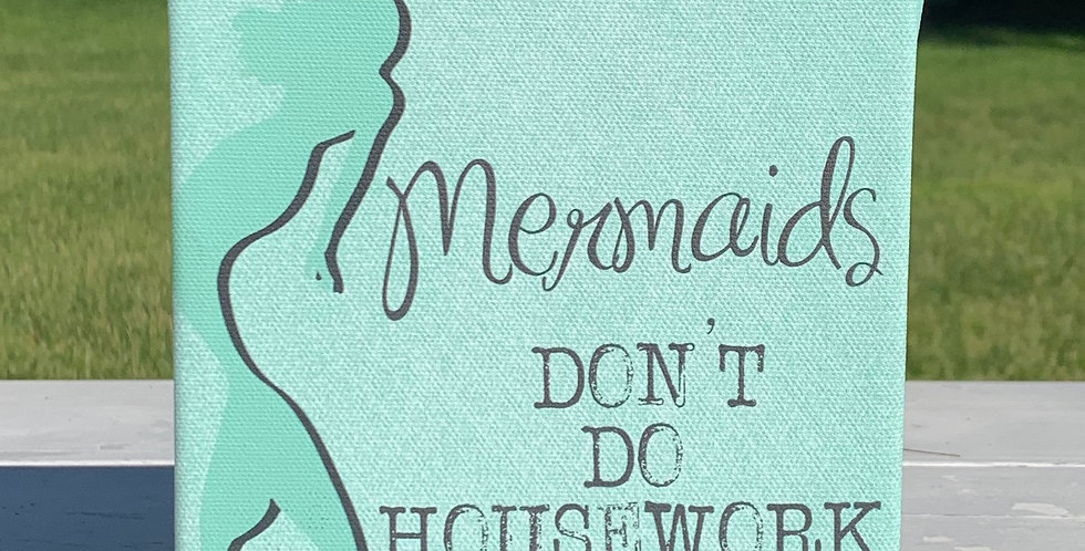 Canvas Wrap Box Sign - Mermaid