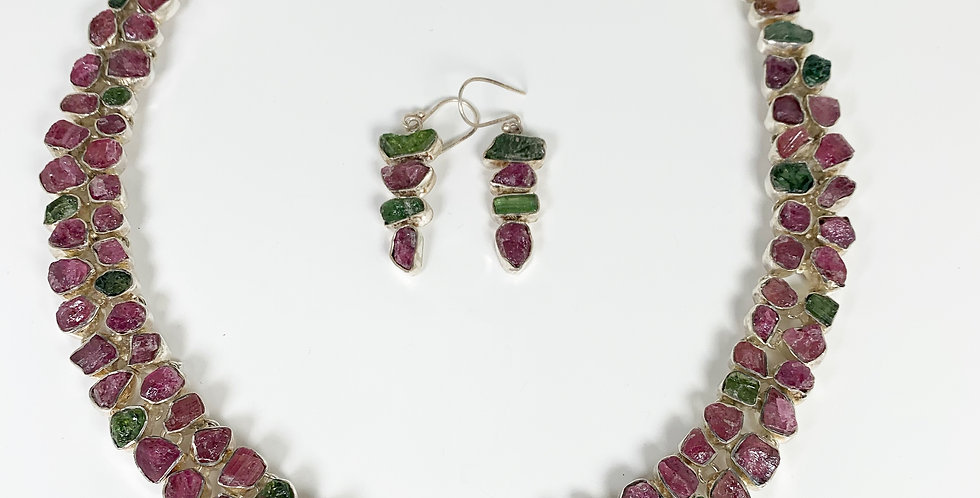 Tourmaline Necklace and earring set