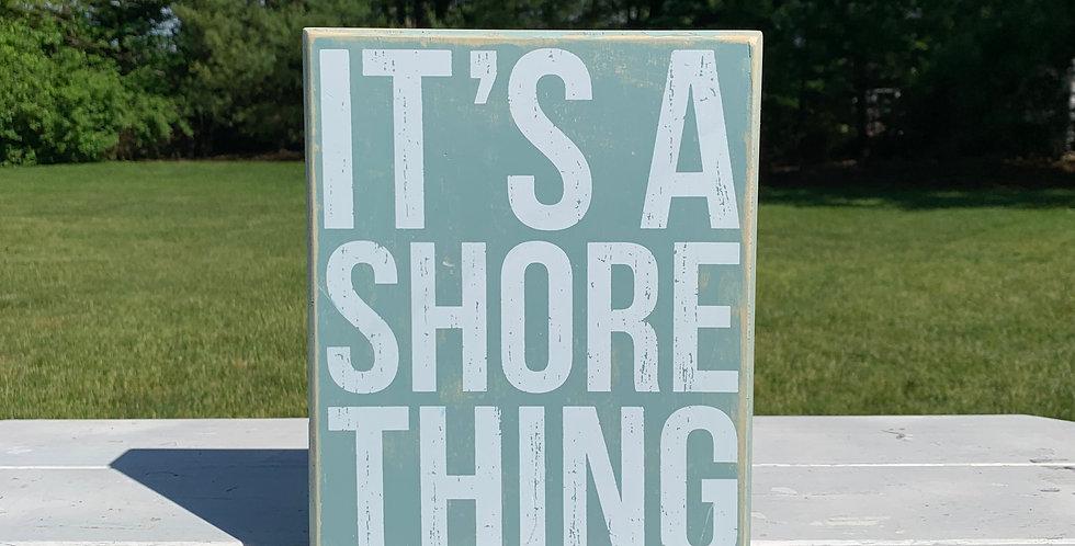 Box Sign - Shore Thing