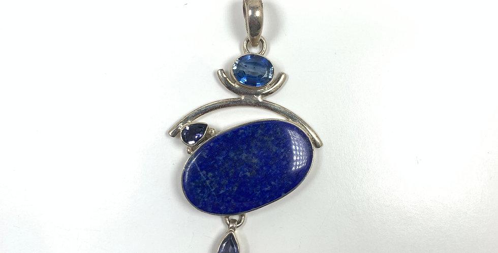 Blue Lapis & Blue Topaz Pendant