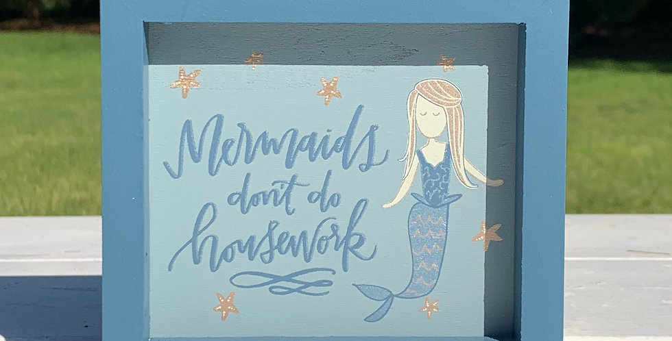 Inset Box Sign - Mermaids