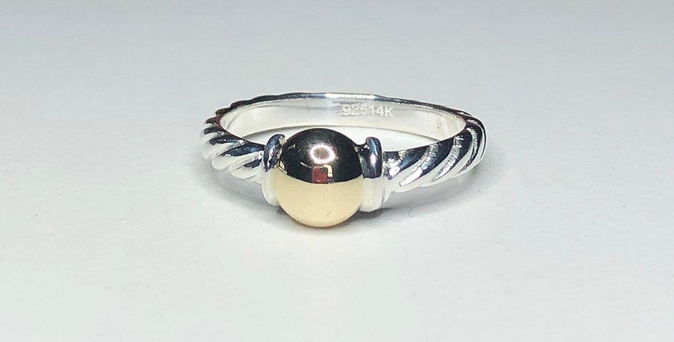 Cape Cod Classic Gold Ball Twist Ring