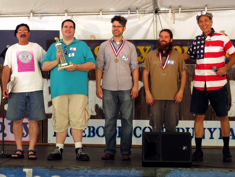 POS Winners: Ben Ziek, Southpaw Jones, and Gy Odem. Emcees: Guy Ben-Moshe and Gary Hallock.