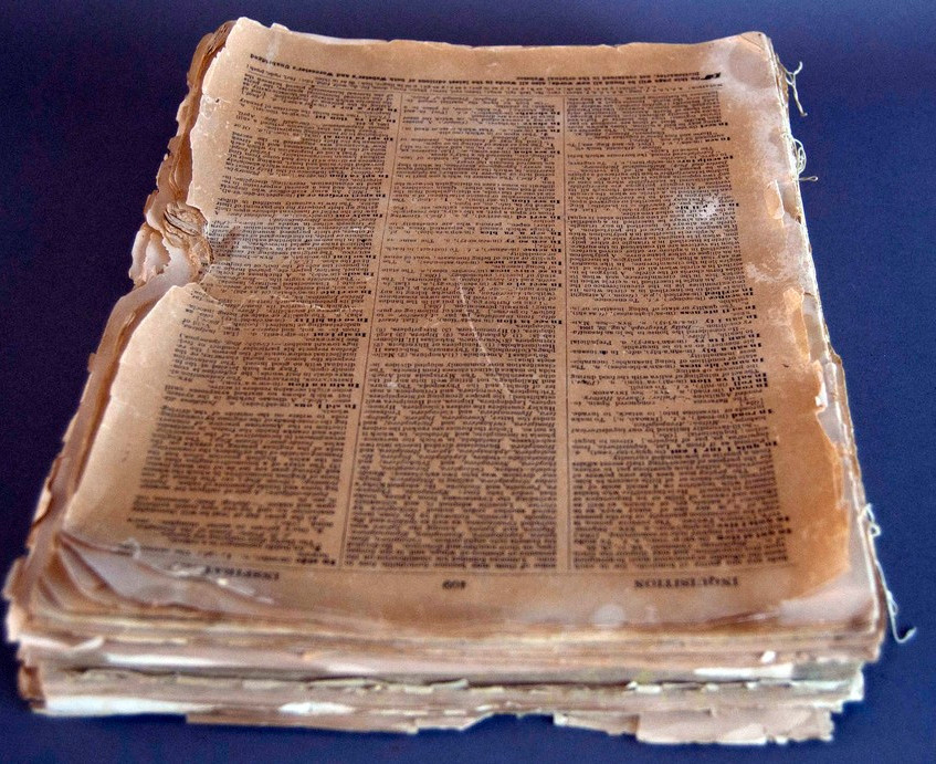 Dictionary Before Restoration
