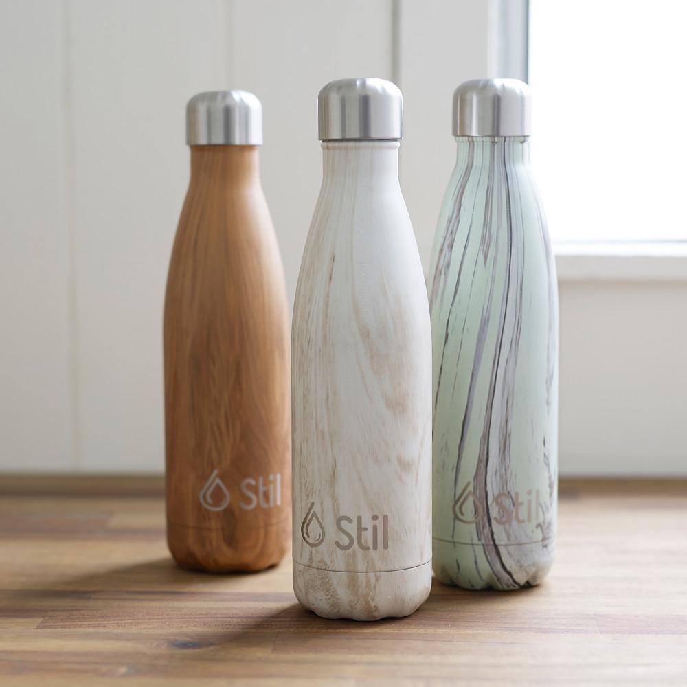 Woodgrain, water bottle, steel water bottle, wood, stainless steel water bottle, reusable water bottle
