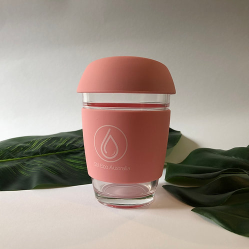 Reusable Coffee Cup Rose Pink 12oz (Large)