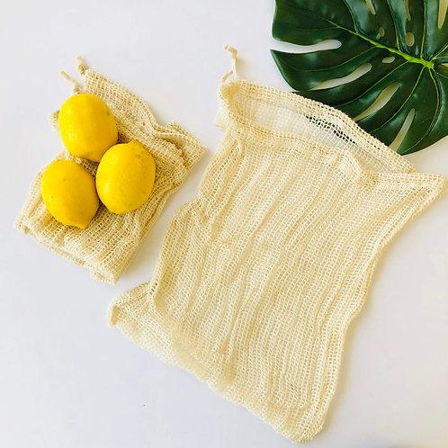 Organic Cotton Produce Bag 3pk Large