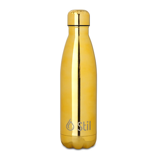 Yellow Gold Stainless Steel Double Wall Insulated BPA Free Leak-Proof Bottle