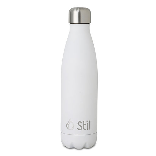White Matte Stainless Steel Double Wall Insulated BPA Free Leak-Proof Bottle