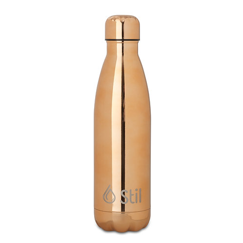 Rose Gold Stainless Steel Double Wall Insulated BPA Free Leak-Proof Bottle