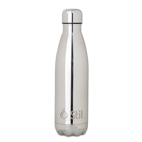 Mirror Silver Stainless Steel Double Wall Insulated BPA Free Leak-Proof Bottle