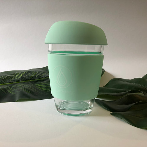 Reusable Coffee Cup Turquoise 12oz (Large)