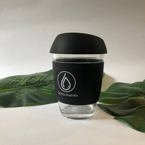 Reusable Coffee Cup Black 12oz (Large)