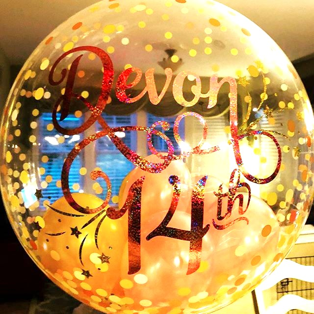 say anything with customized balloons! A