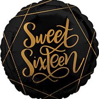 """18"""" foil Balloon 16 Sweet Sixteen"""