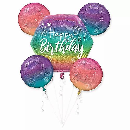 Birthday Sparkle Balloon Bouquet #49