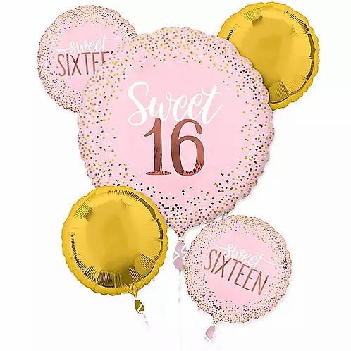 Birthday Sweet 16 Balloon Bouquet #31