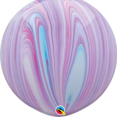36 inch Fashion Agate Swirl Latex balloon with helium