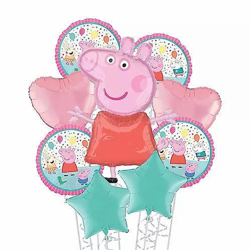 Birthday Peppa Pig Balloon Bouquet #19