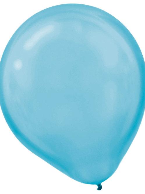 11 in Carribean Blue Pearl latex balloon
