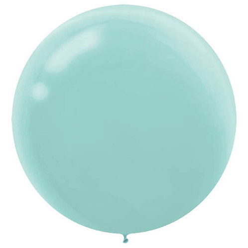 24 inch Aqua Latex filled with helium