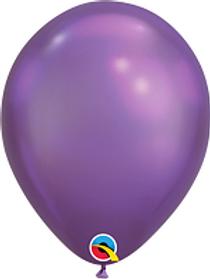 11 in Purple Chrome latex balloon