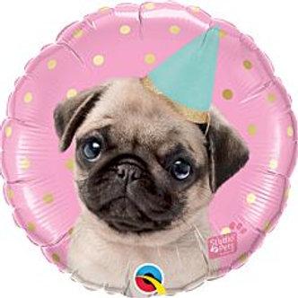 "18"" foil Balloon Pug Dog"