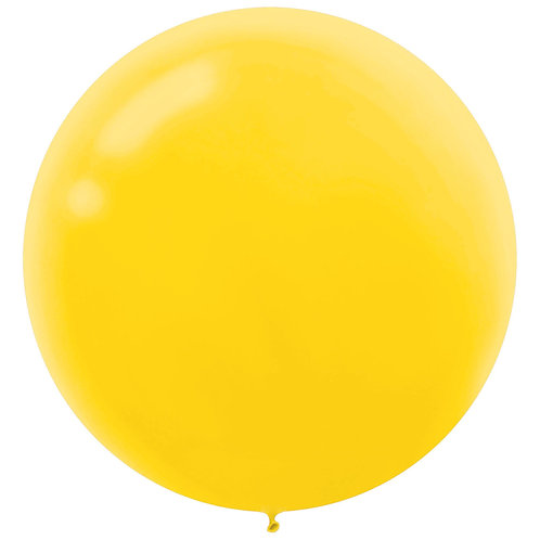 24 inch Yellow Latex filled with helium