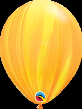Agate Yellow Swirl Latex 11 inch with helium