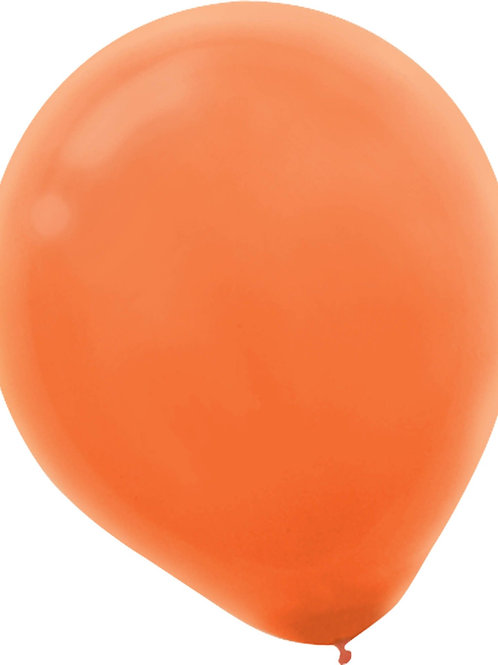 11 in orange latex balloon