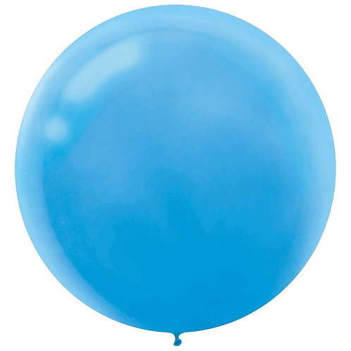 24 inch light blue latex filled with helium
