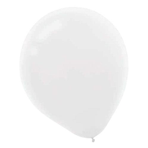 11 in white Pearl latex balloon