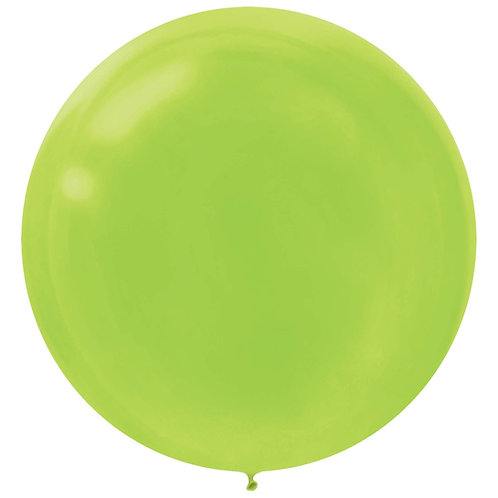 24 inch lime latex filled with helium