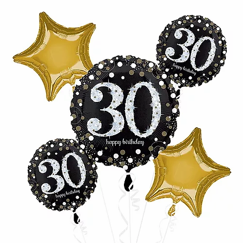 Birthday 30 Balloon Bouquet #46