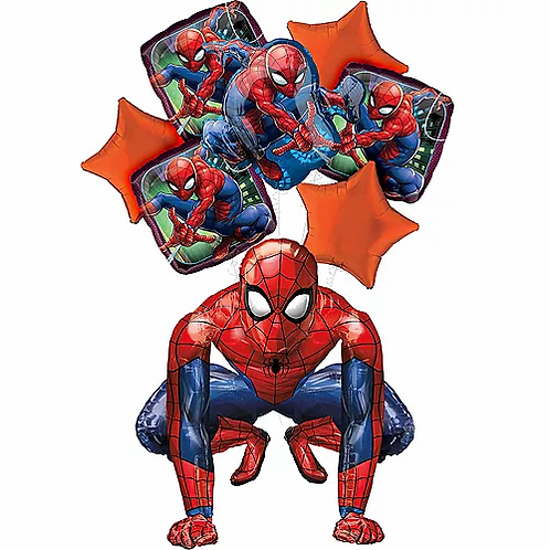 Deluxe Spiderman Birthday Balloon Package #20