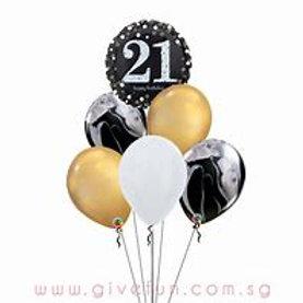 21 Balloon Bouquet #72