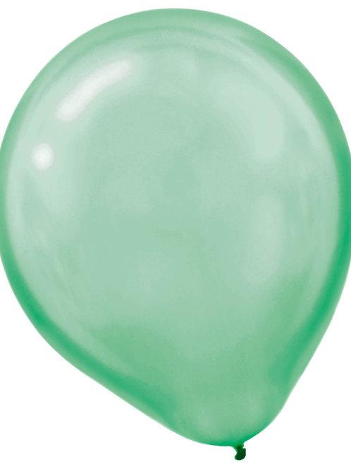 11 in green pearl latex balloon