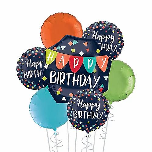 Birthday Navy Blue Balloon Bouquet #11