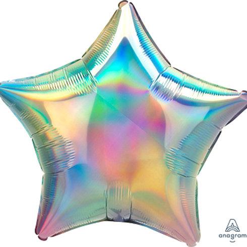 """18"""" foil Balloon iridescent pastel rainbow"""