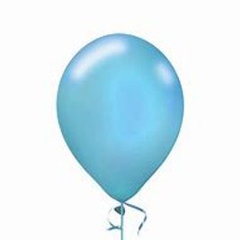 11 in light blue pearl latex balloon