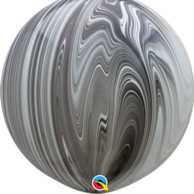 36 inch Black/White Agate Latex balloon with helium