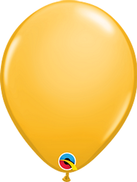 11 in Golden Rod latex balloon