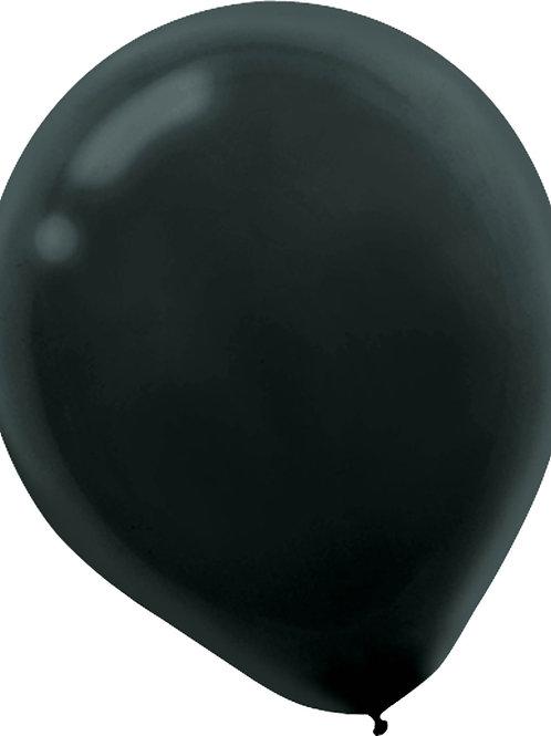 11 in black latex balloon