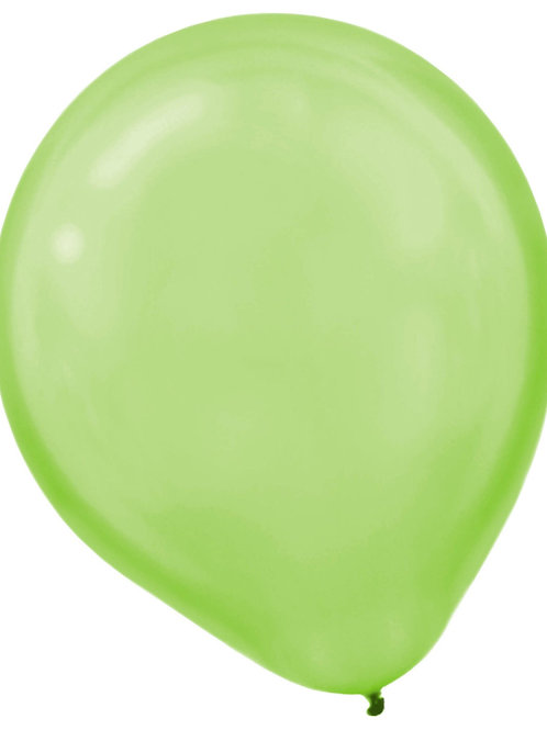 11 in lime pearl latex balloon