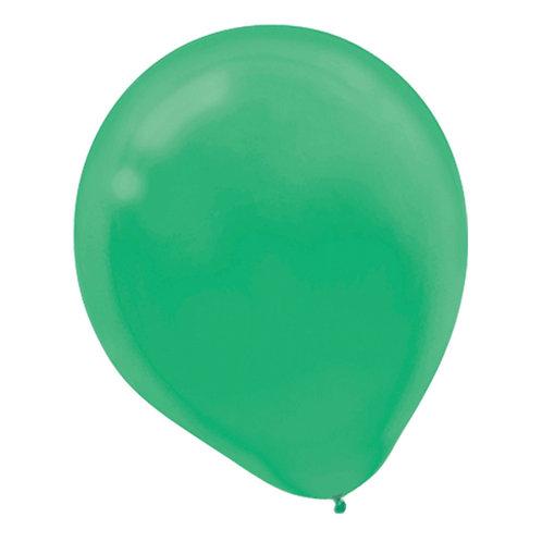 11 in green latex balloon